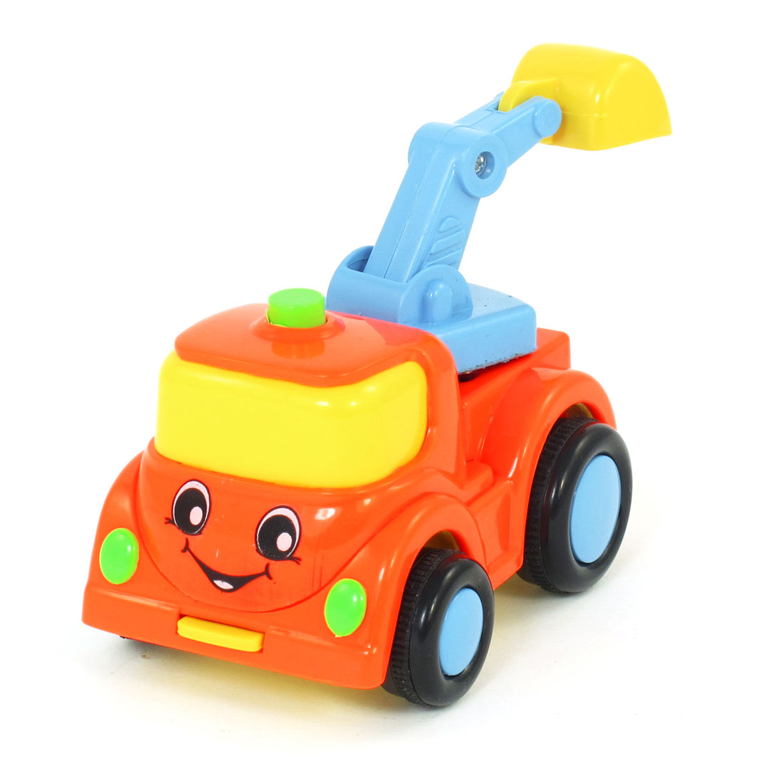 Multicolor Plastic Excavator Digger Truck Car Model Toy for Child