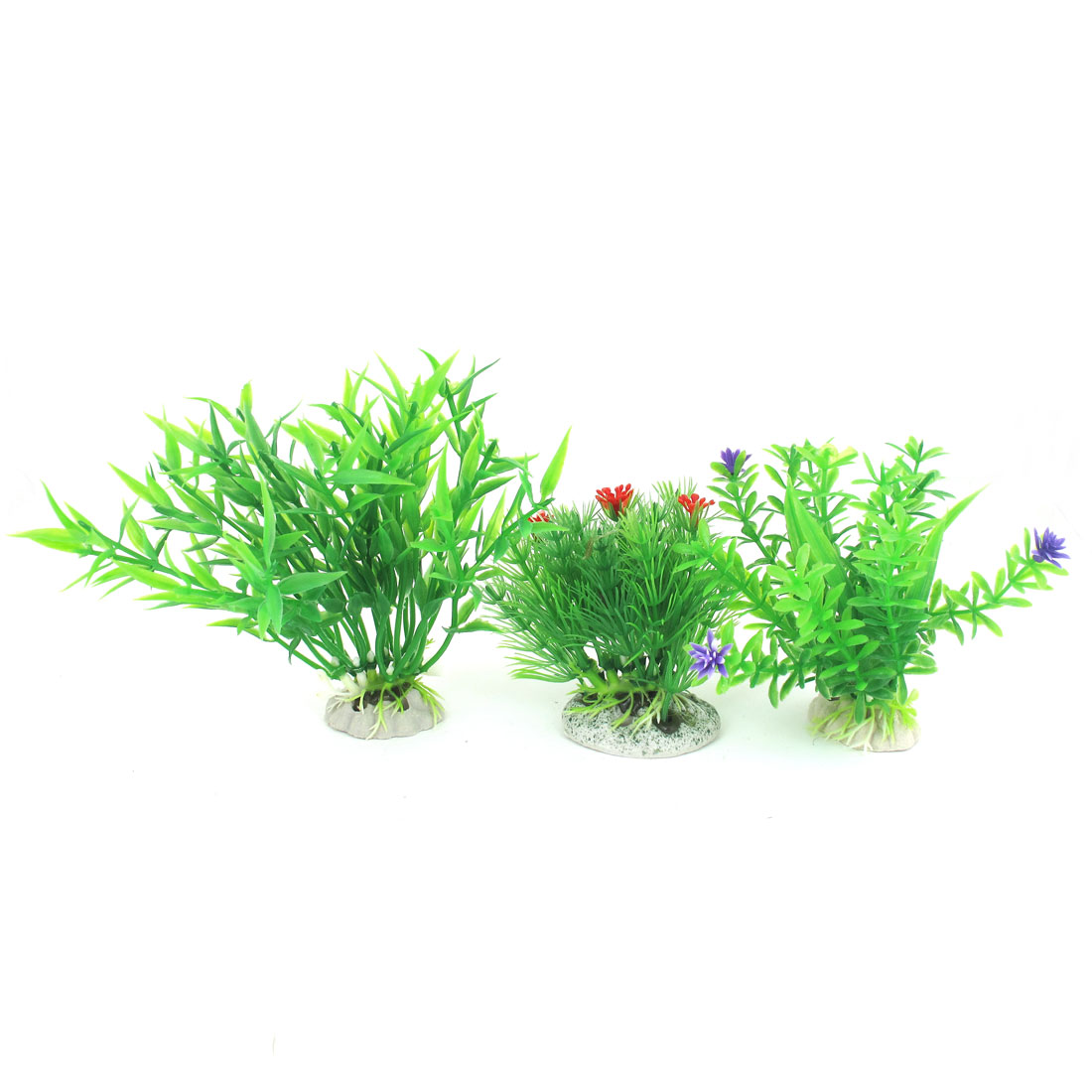 3 Pcs Green Emulational Aquarium Fish Tank Plants Decoration