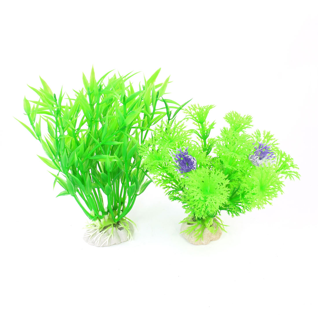 2 Pcs Green Emulational Fish Tank Aquarium Grass Plants Ornament