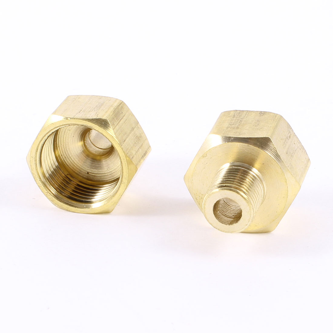 "2PCS 1/8""PT x 1/2""PT Male to Female Thread Hex Nipple Straight Connectors Joint"