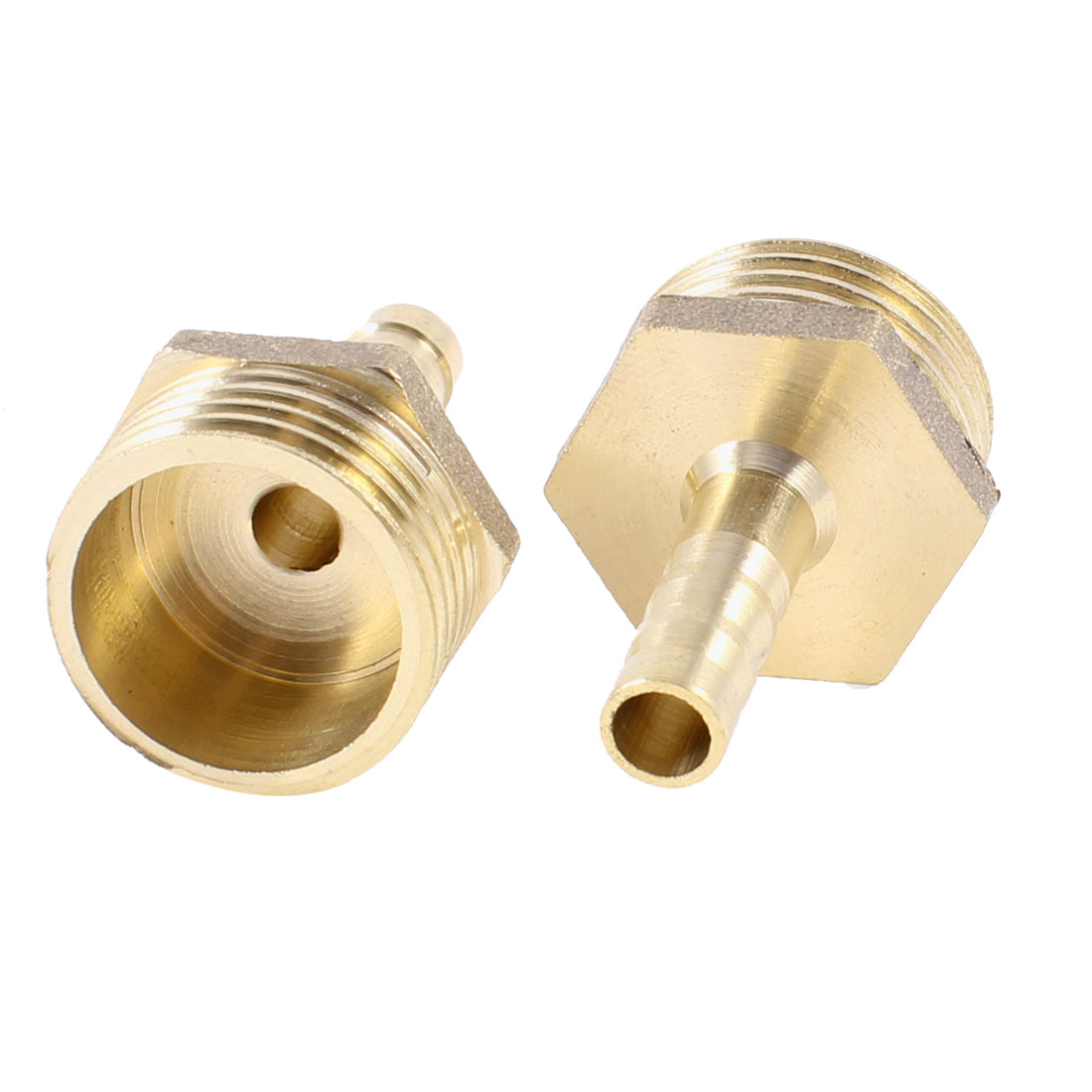 "2PCS Brass 6mm Air Gas Pipe Hose Barb 1/2"" PT Male Thread Couplings Adapter"