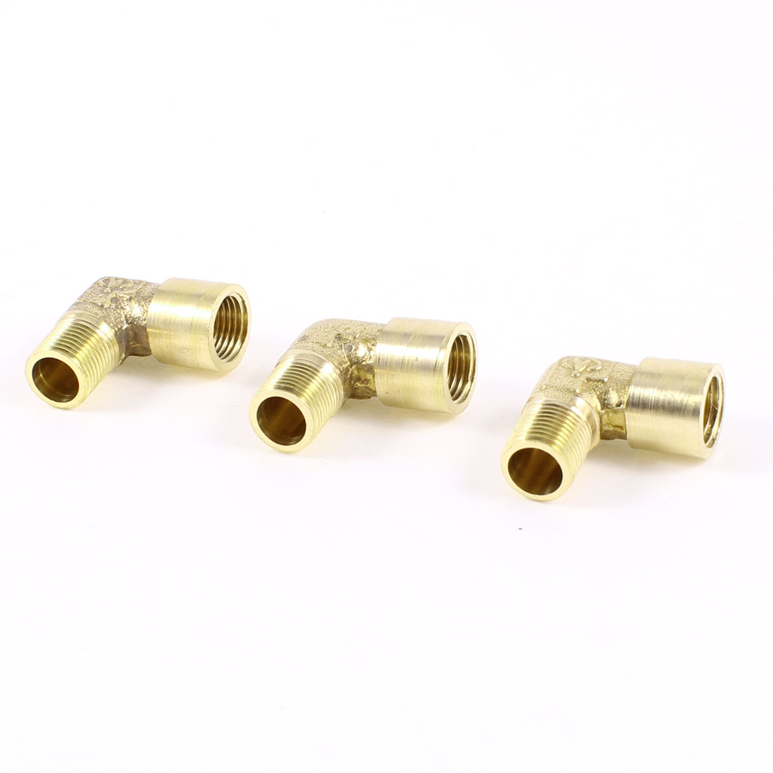 "3PCS Brass Right Angle 1/8"" PT Male/Female Thread Quick Fittings Hex Nipple"