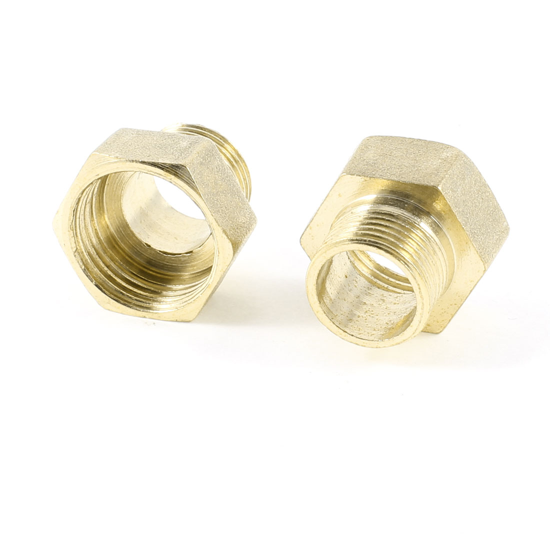 16mm to 19mm Male/Female Thread Hex Nipples Brass Connector Couplers 2 Pcs
