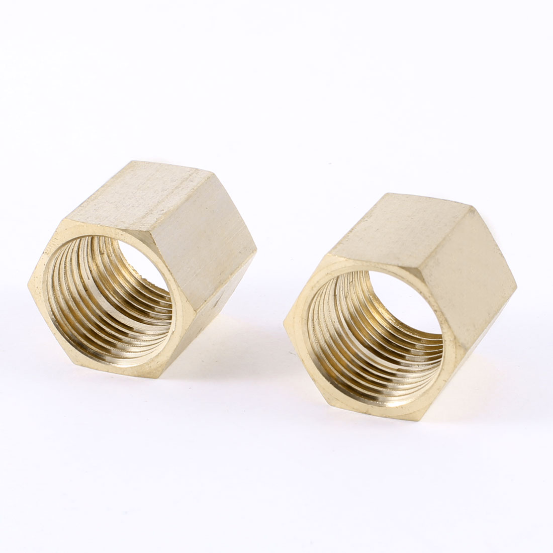 "1/2""PT Female Thread Brass Hex Rod Connectors Straight Pipe Fittings 2 Pcs"