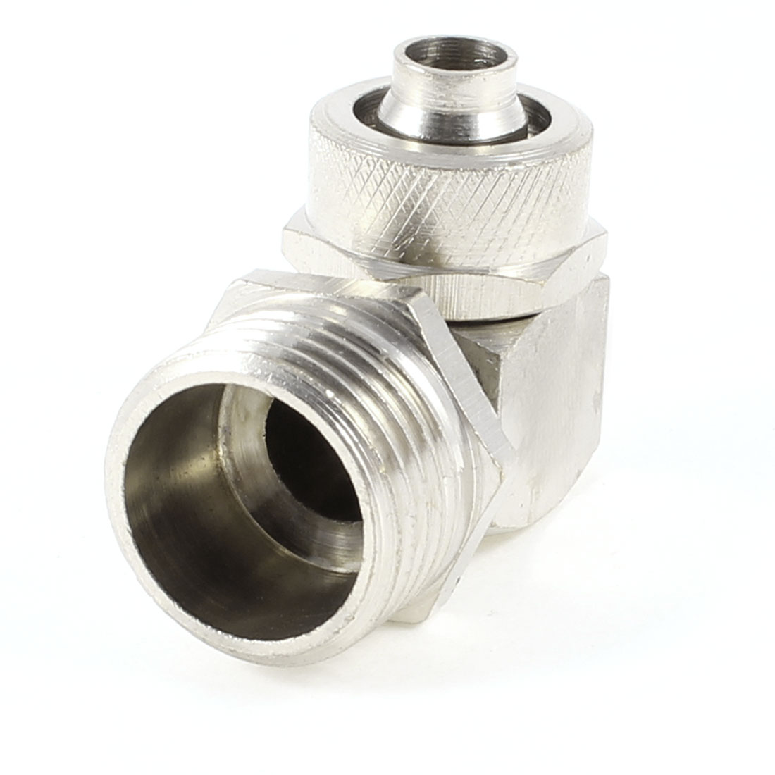 20mm Male Thread Right Angle Quick Adapter Connector for 7.5mmx12mm Air Hose