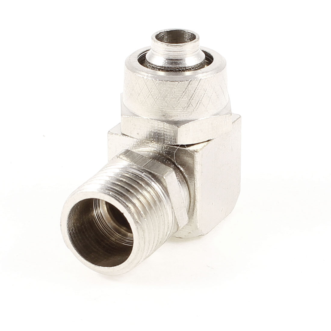 Right Angle Pneumatic 6.5mmx10mm Air Tube Quick Connector Adapter