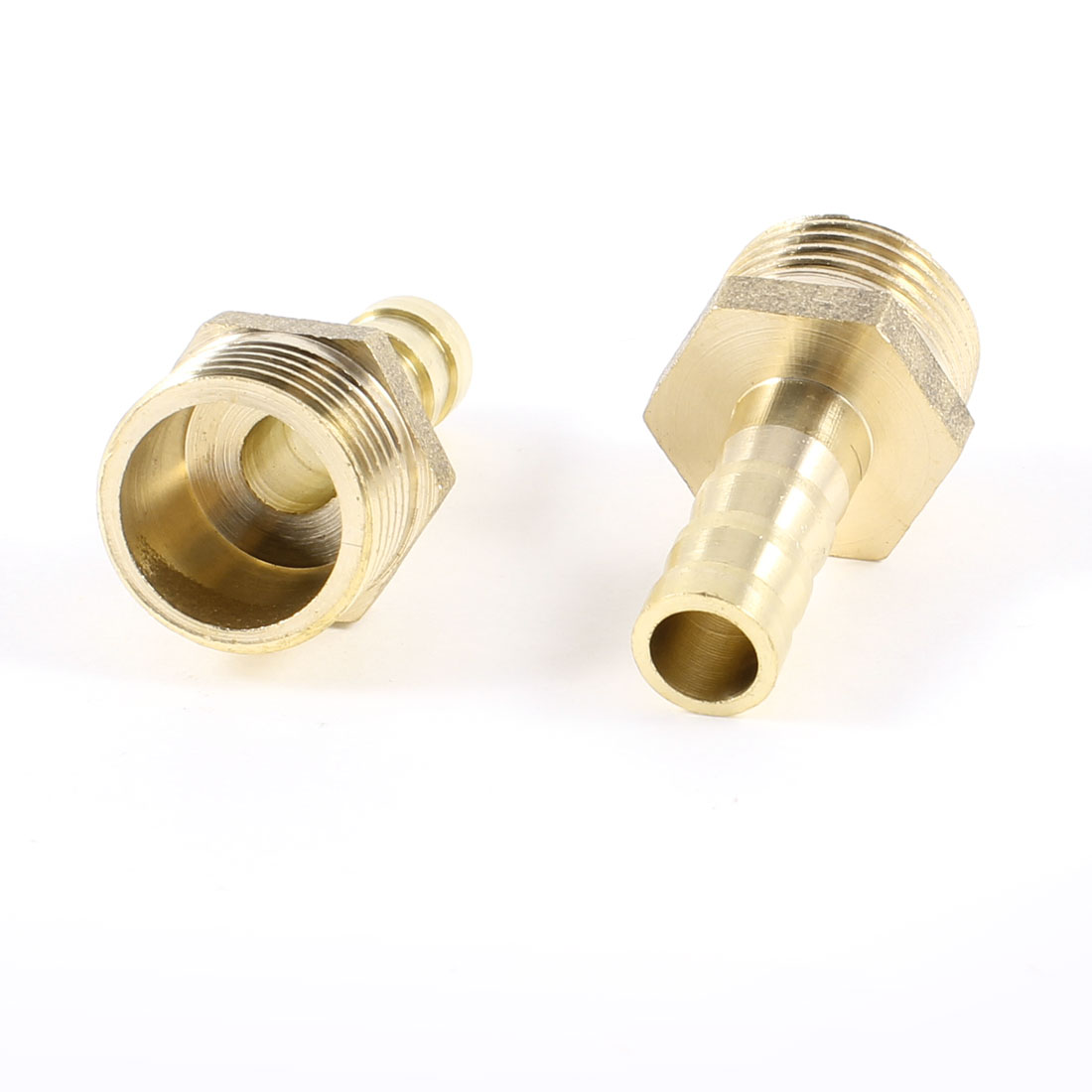 "8mm Diameter Hose Barb to 3/8"" PT Male Thread Brass Couplers Adapter 2 Pcs"