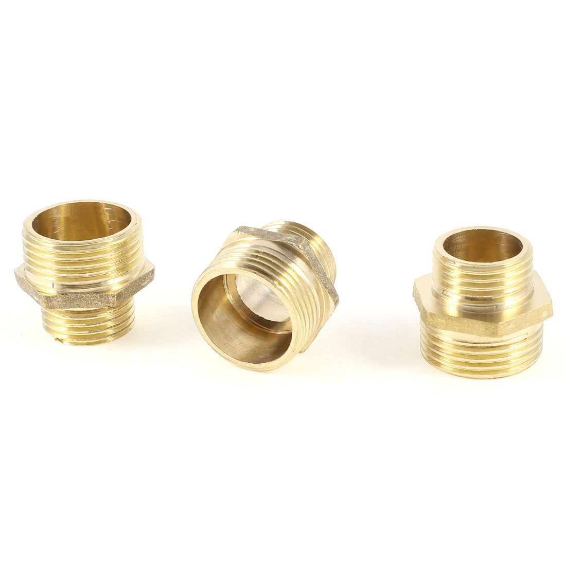 "Male to Male Thread 1/2""PT x 3/4""PT Hex Nipple Reducer Quick Couplings 3PCS"
