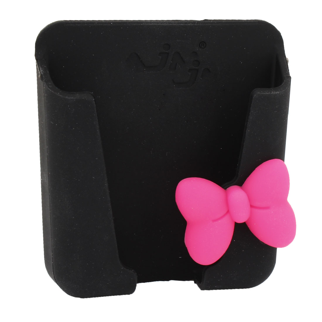 Car Cute Bowknot Decor Black Silicone Adhesive Tape Phone Storage Holder