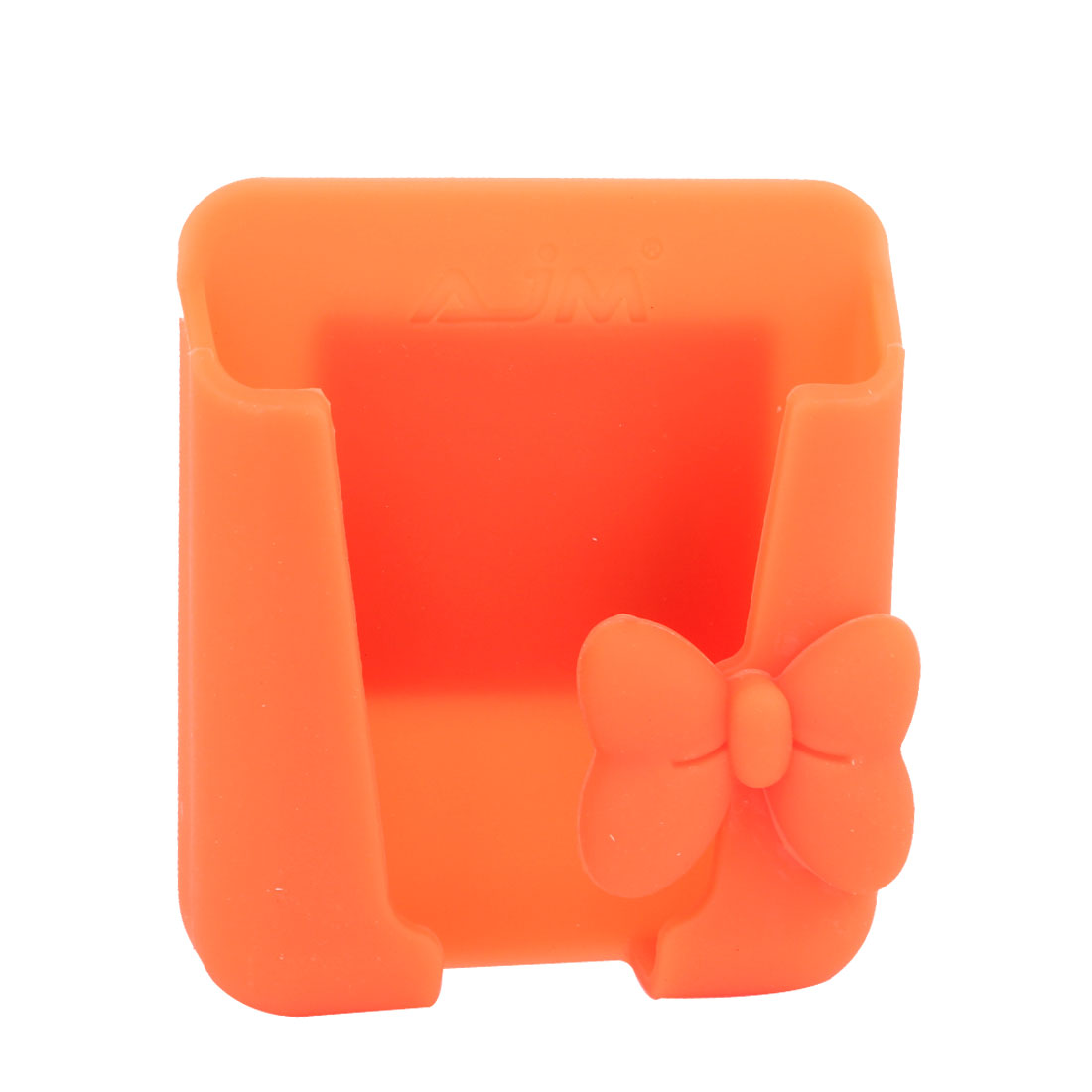 Vehicle Car Orange Bowknot Accent Silicone Cell Phone Holder Stand