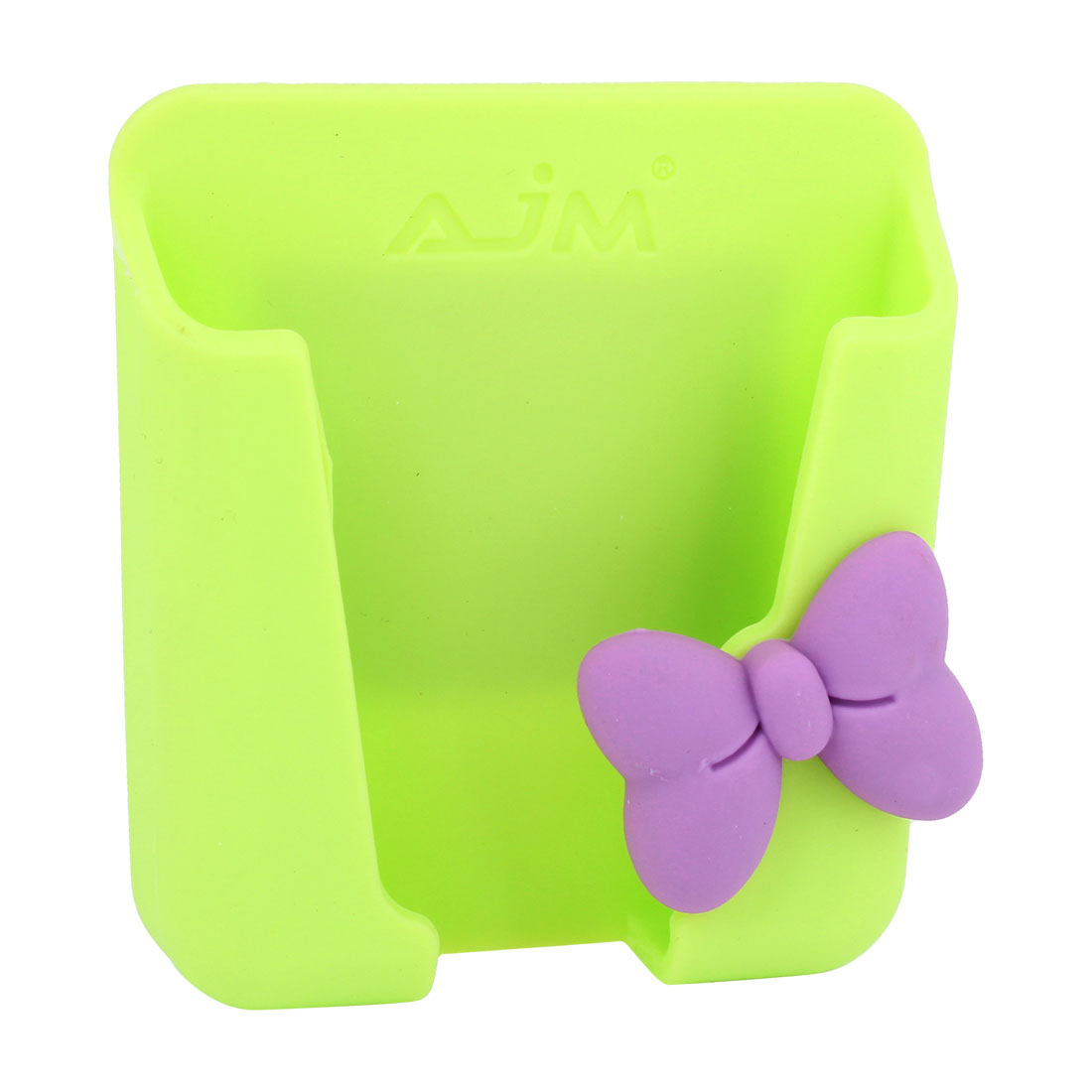 Green Silicone Bowknot Detail Mobile Phone Card Holder for Auto Car Van