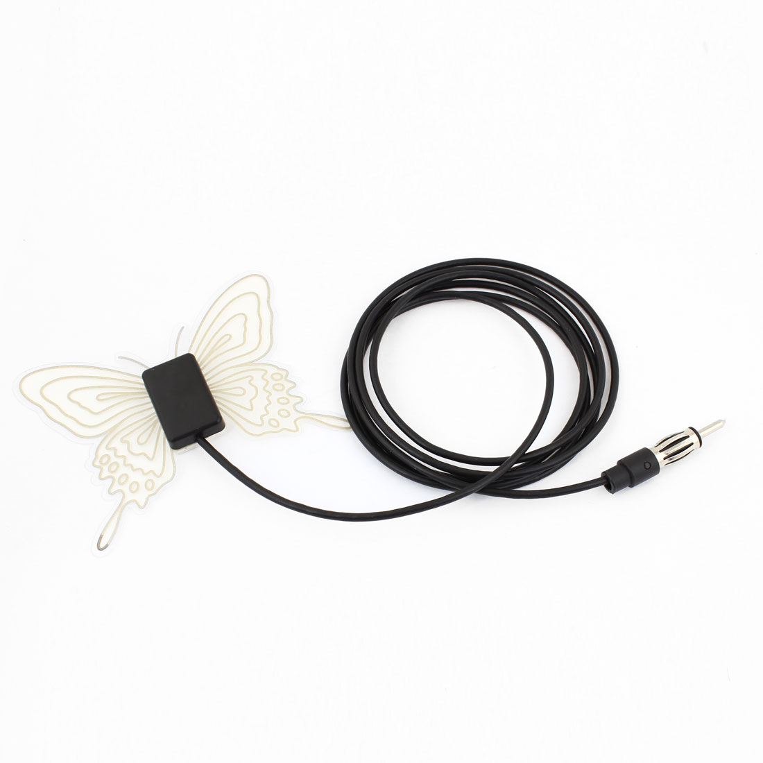 Automobile Car Butterfly Shape Windshield Mount Electronic FM Antenna
