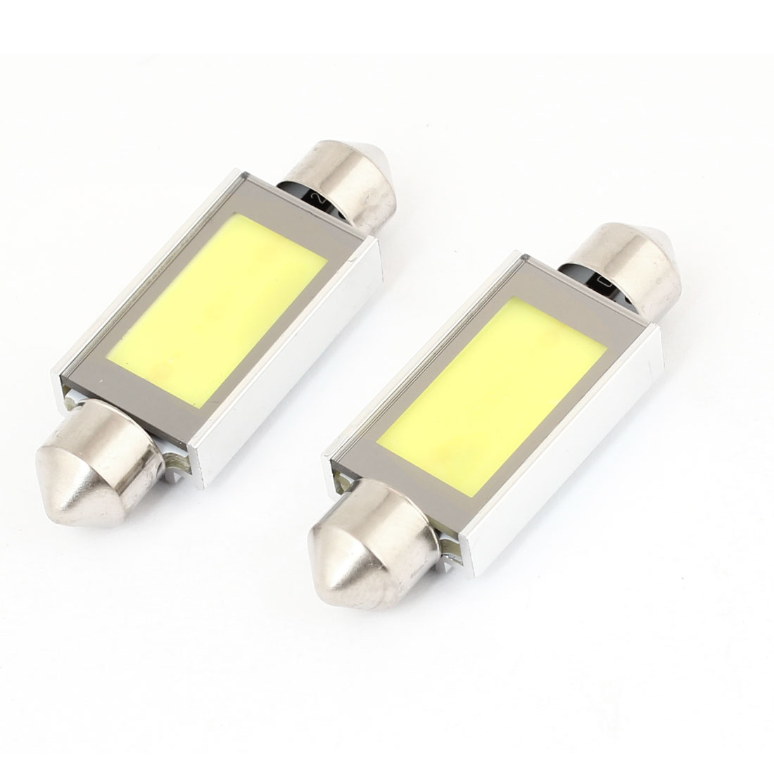 2pcs Car 3 White SMD LED Heat Sink Error Free Festoon Dome Map Light 3W 41mm