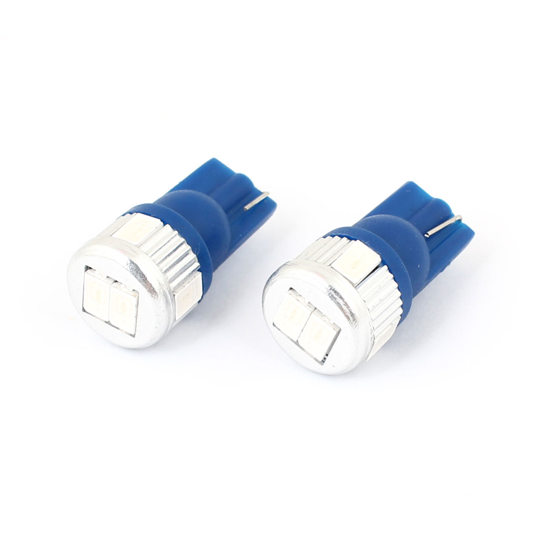 2 Pcs T10 161 Van Truck Car 5630 SMD 6 Blue LED Side Marker Light Bulb