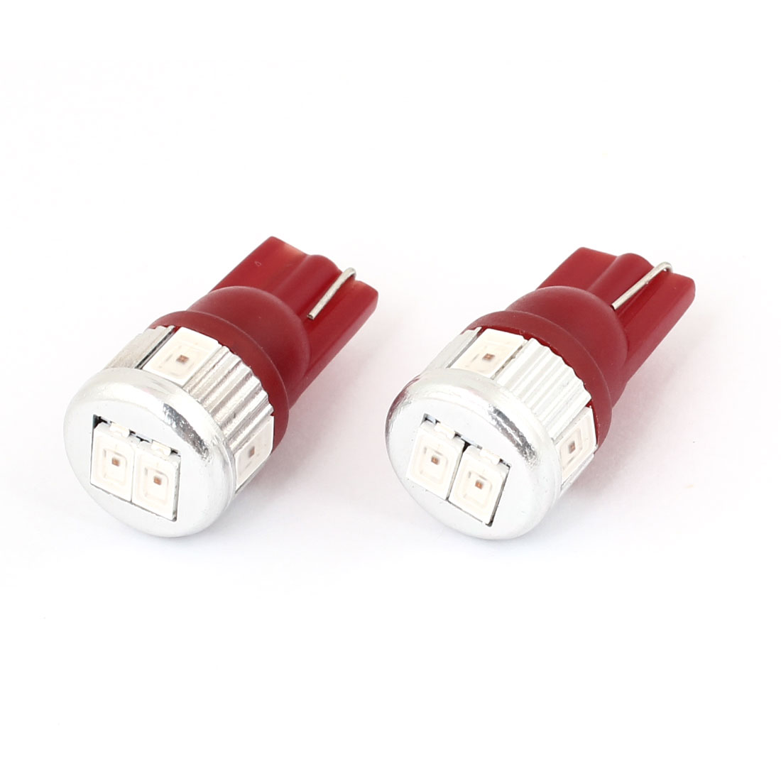 Pair T10 W5W 6 Red 5630 SMD LED Turn Signal Light Bulb for Auto Car