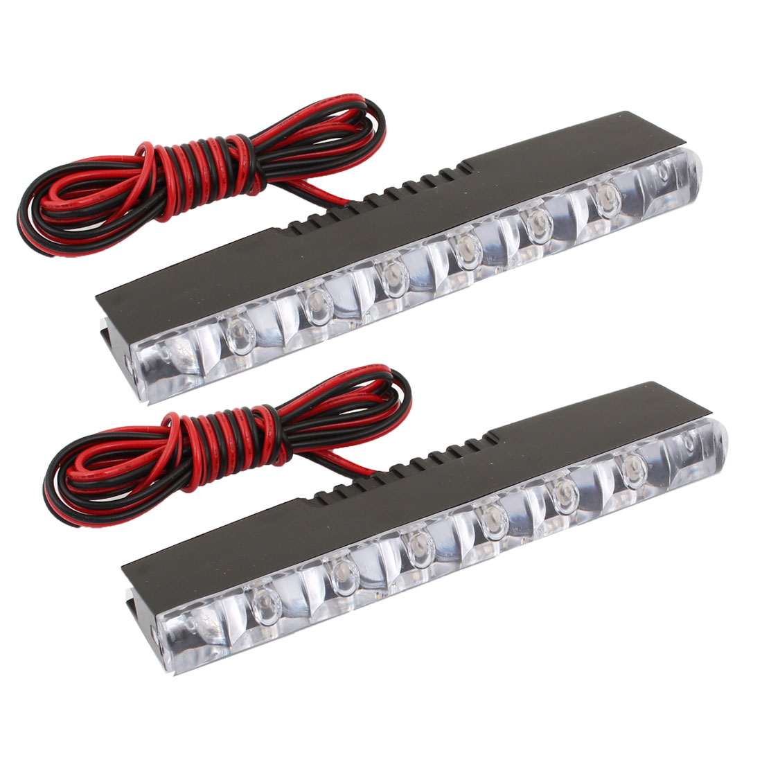 2 Pcs DC 12V Van Car Truck White 6 LED DRL Daytime Running Lamp Light