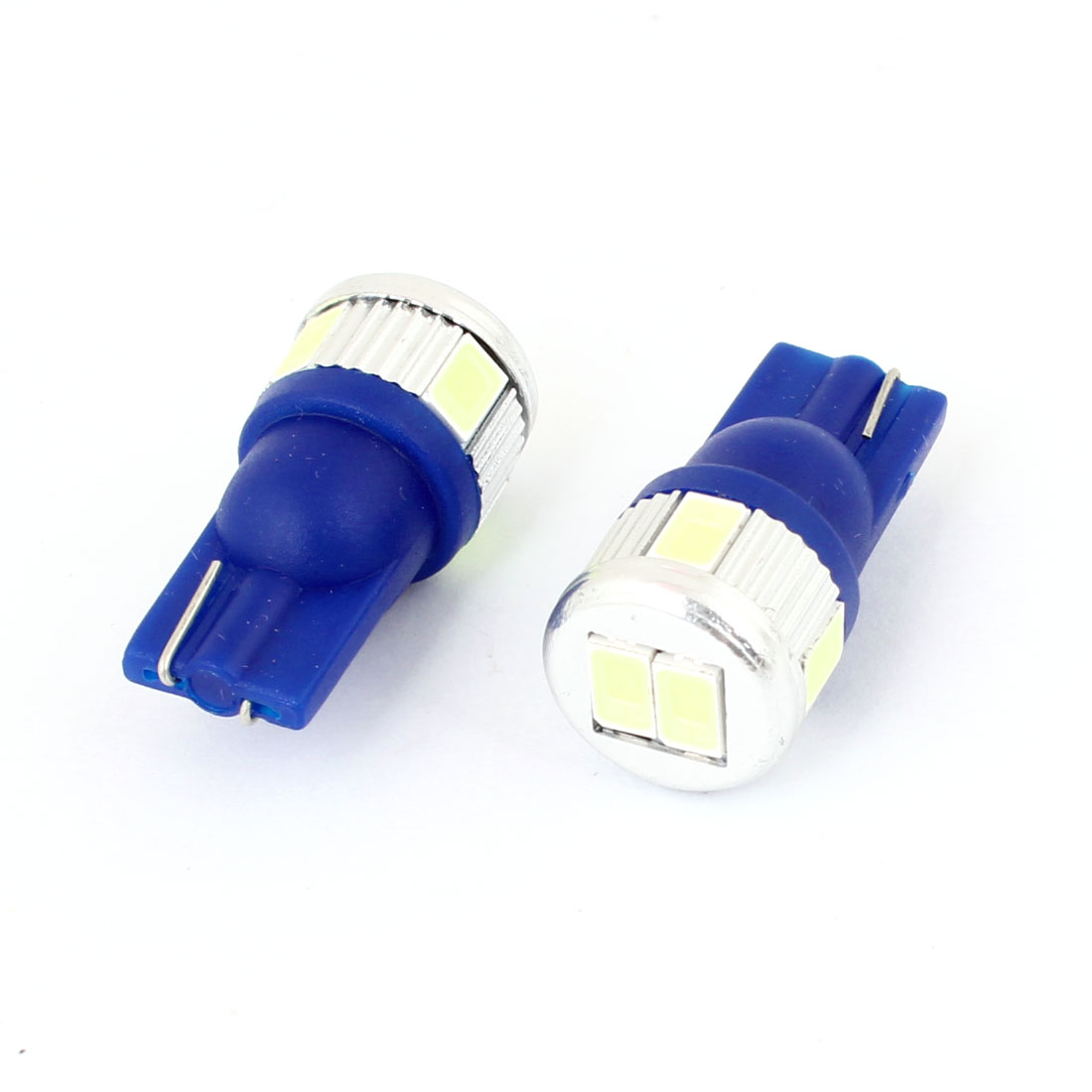 2pcs Vehicle Car 5630 SMD 6 Ice Blue LED T10 152 Turning Light Lamp Bulb