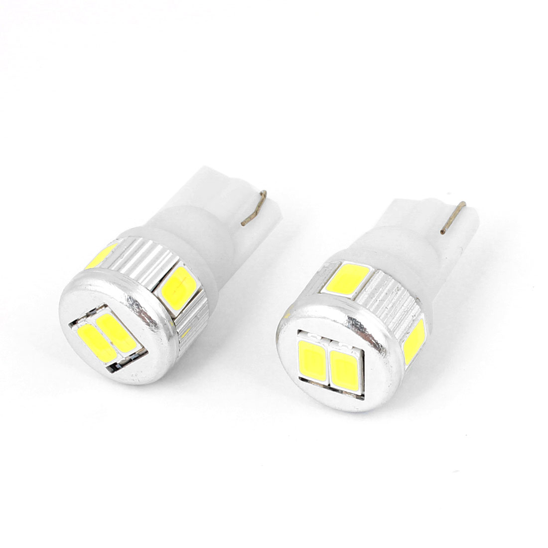 Pair T10 922 6 White 5630 SMD Dashboard LED Light Bulb for Auto Car internal