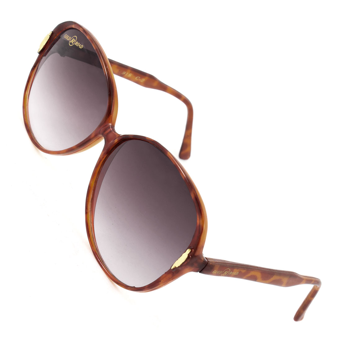 Women One Bridge Leopard Print Full Frame Dark Burgundy Lens Glasses Sunglasses