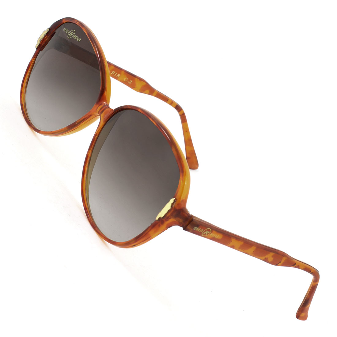 Woman Wayfarer One Bridge Brown Clear Full Frame Dark Gray Lenses Sun Glasses