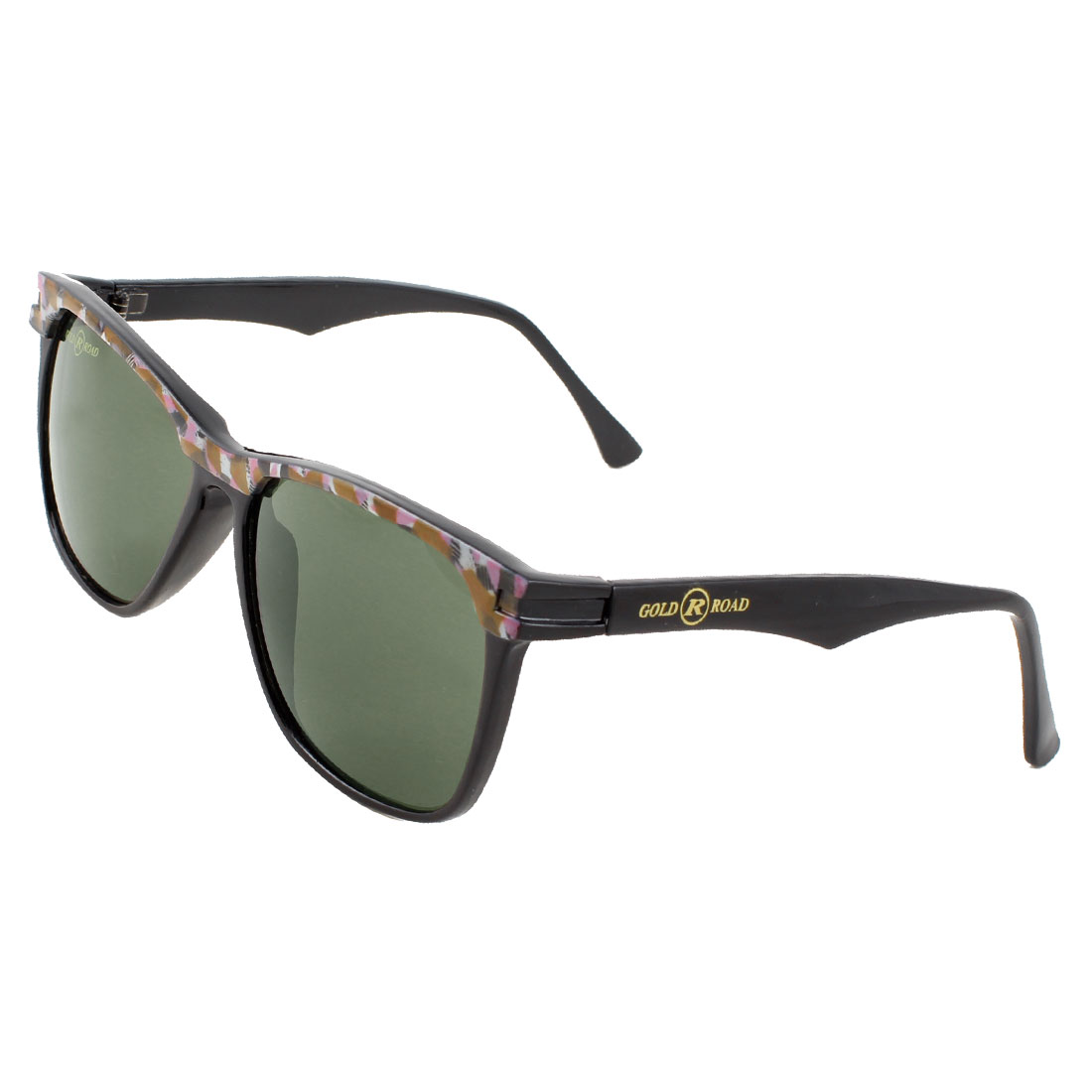 Women One Bridge Brown Light Purple Black Full Frame Dark Green Lens Sunglasses