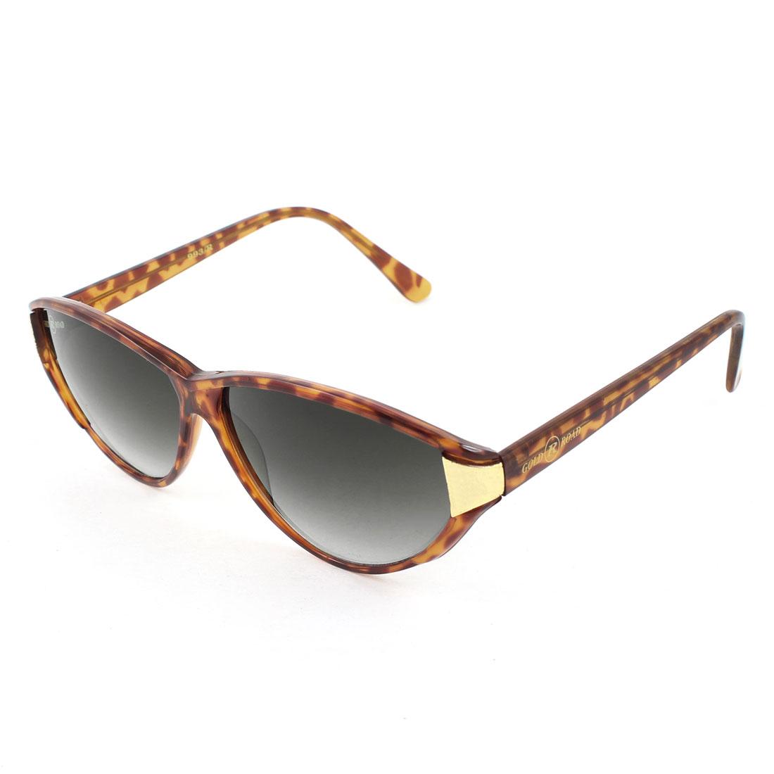 Outdoor Black Lens Leopard Pattern Full Frame Sunglasses for Women Lady