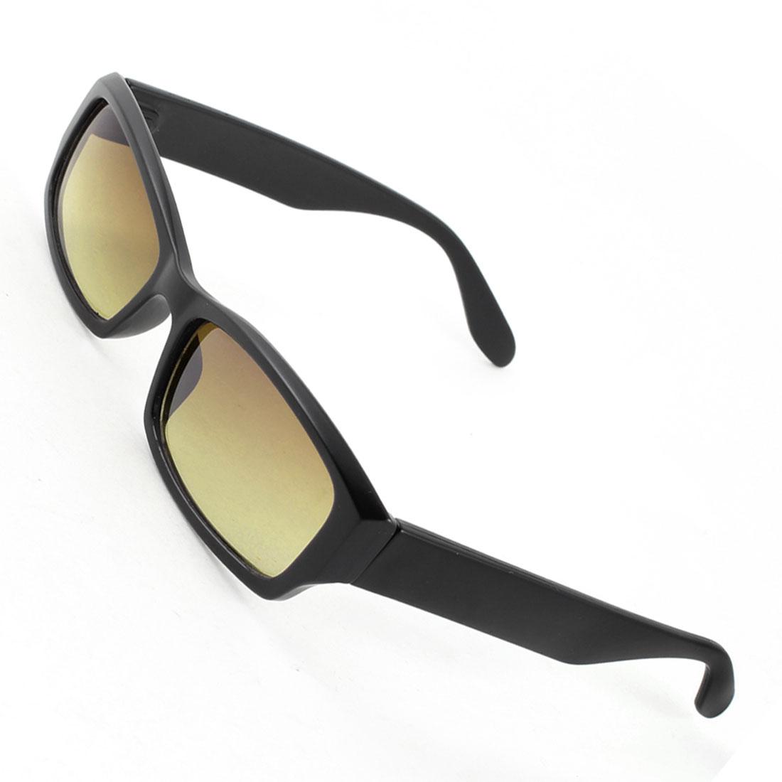 Woman One Bridge Rectangle Black Full Rim Arms Brown Lenses Sunglasses Glasses