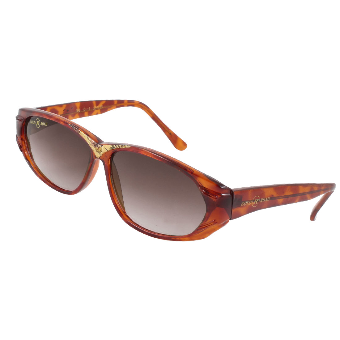 Woman Lady Single Bridge Brown Arms Full Frame Dark Burgundy Lens Sunglasses