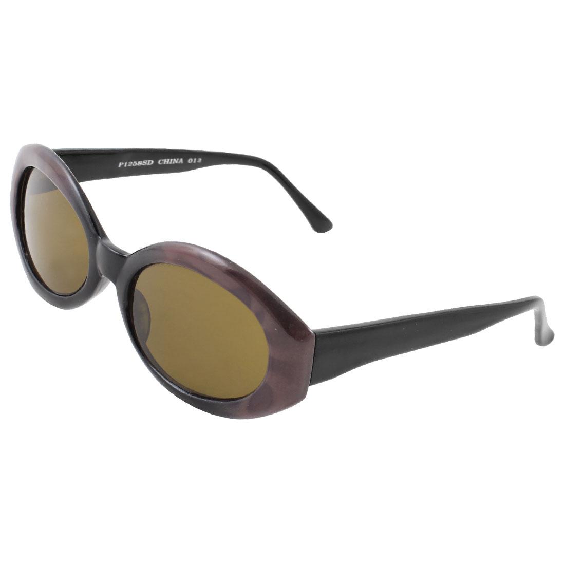One Bridge Purple Full Frame Black Arms Brown Lens Sunglasses Glasses for Women