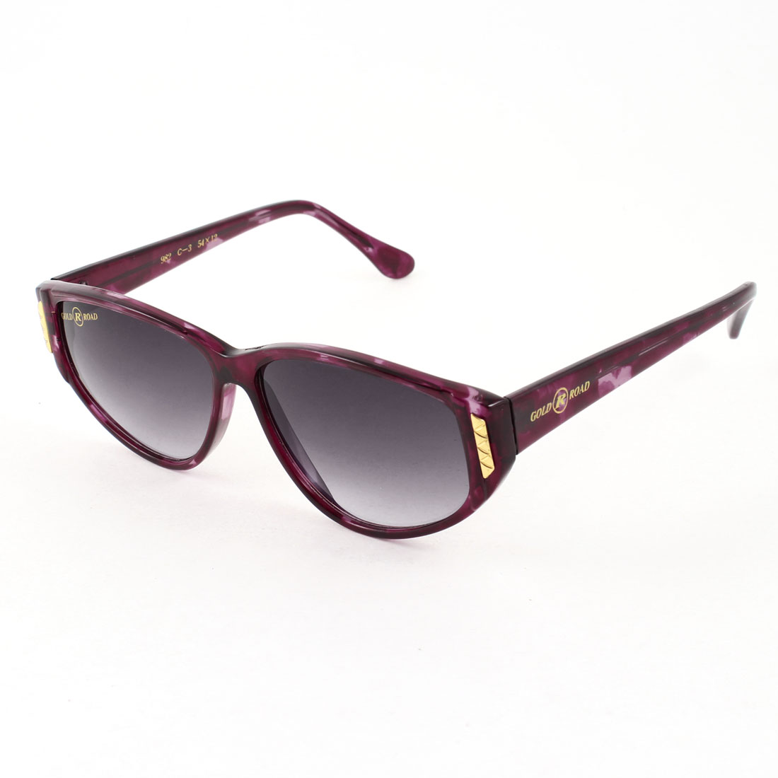 Lady Outdoor Dark Burgundy Lens Leopard Print Arm Full Rim One Bridge Sunglasses
