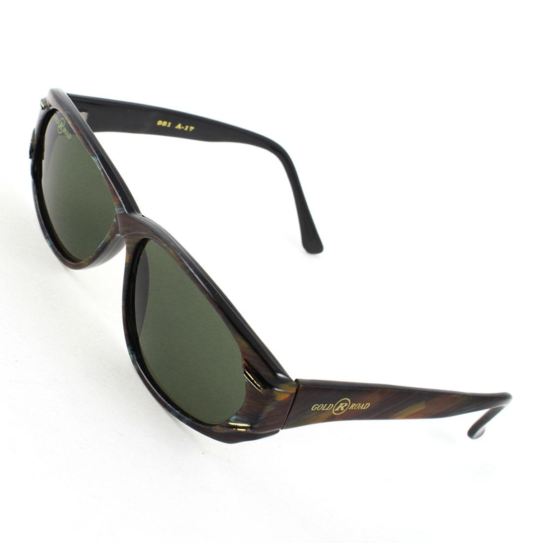 Ladies Wayfarer Dark Green Lens Coffee Color Full Rim Eyes Protecter Sunglasses