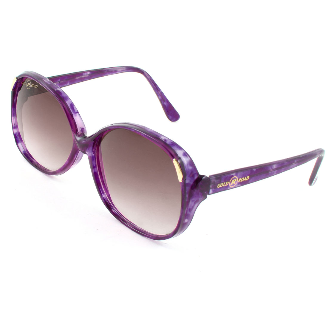 Ladies Women Plastic Full Frame Sunglasses Eyeglasses Glasses Clear Dark Purple