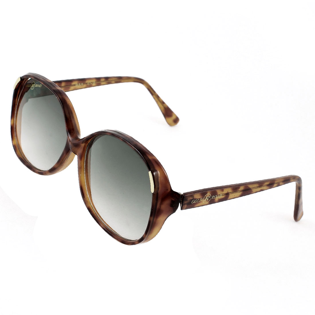 Woman Lady Colored Lenses Dark Brown Leopard Pattern Full Frame Sunglasses