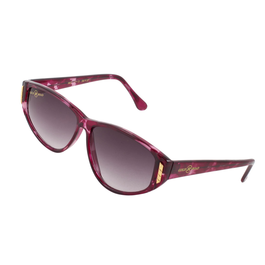 Lady Outdoor Dark Burgundy Arm Full Frame Tinted Lens Single Bridge Sunglasses