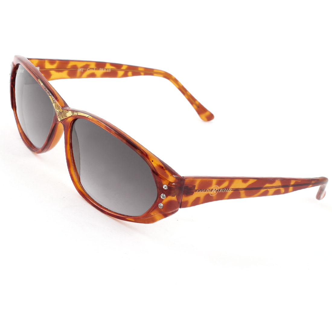 Single Bridge Brown Leopard Pattern Arms Full Frame Sunglasses Glasses for Women