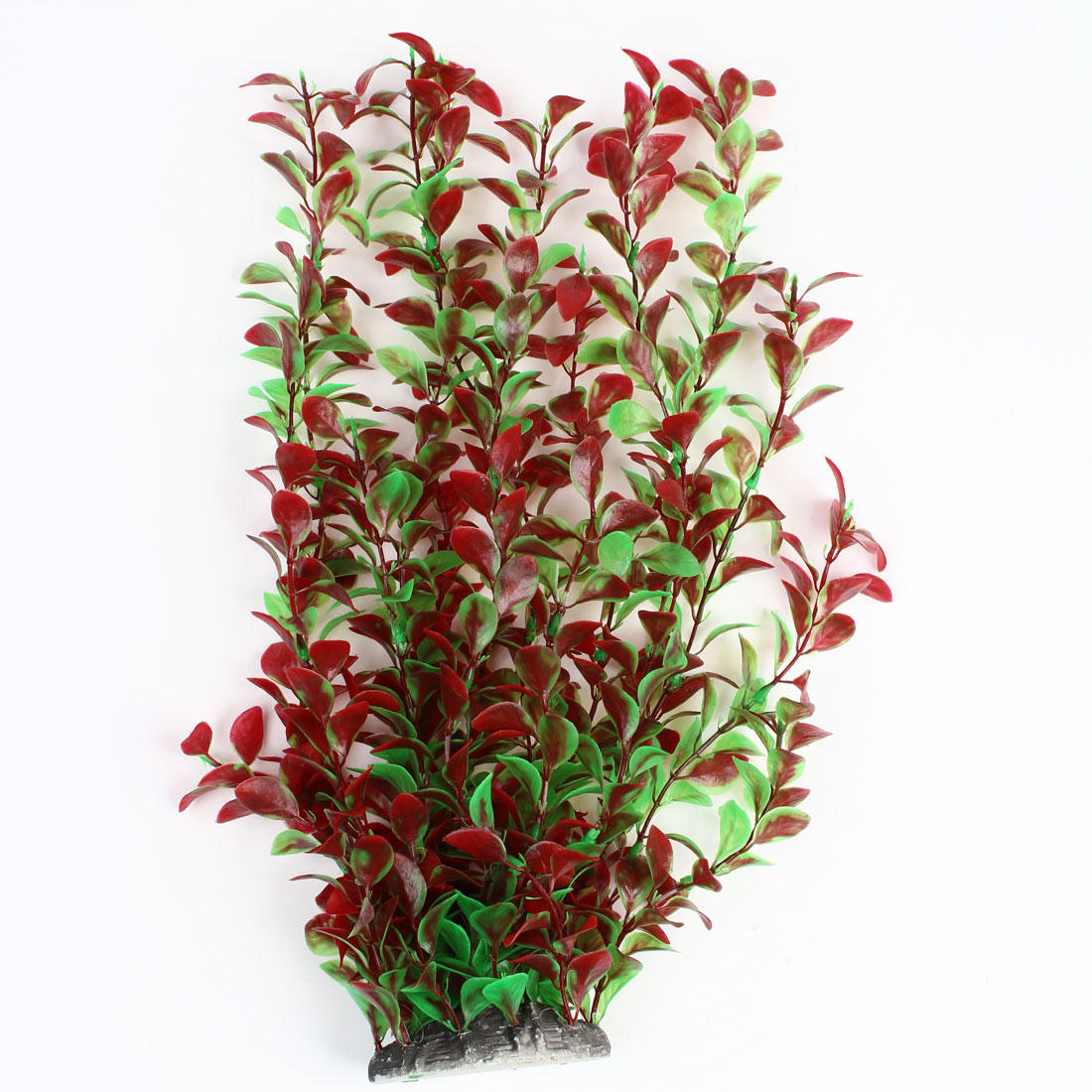 Aquarium Fishtank Decor Ceramic Base Red Green Underwater Plant 14.6""