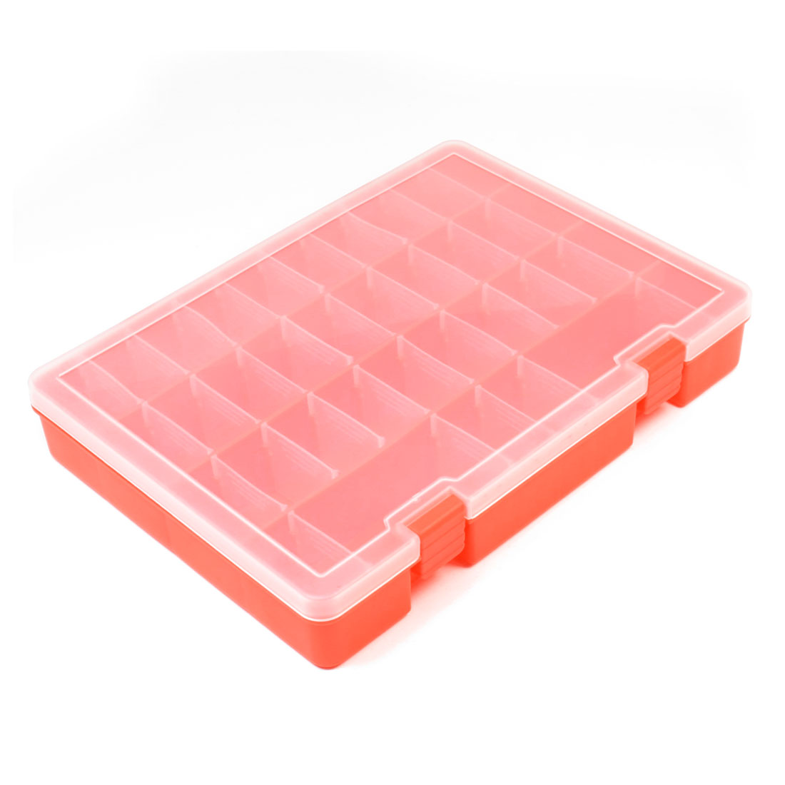 Clear White Orange Adjustable 32 Grids Jewelry Bead Fishhook Storage Case Box