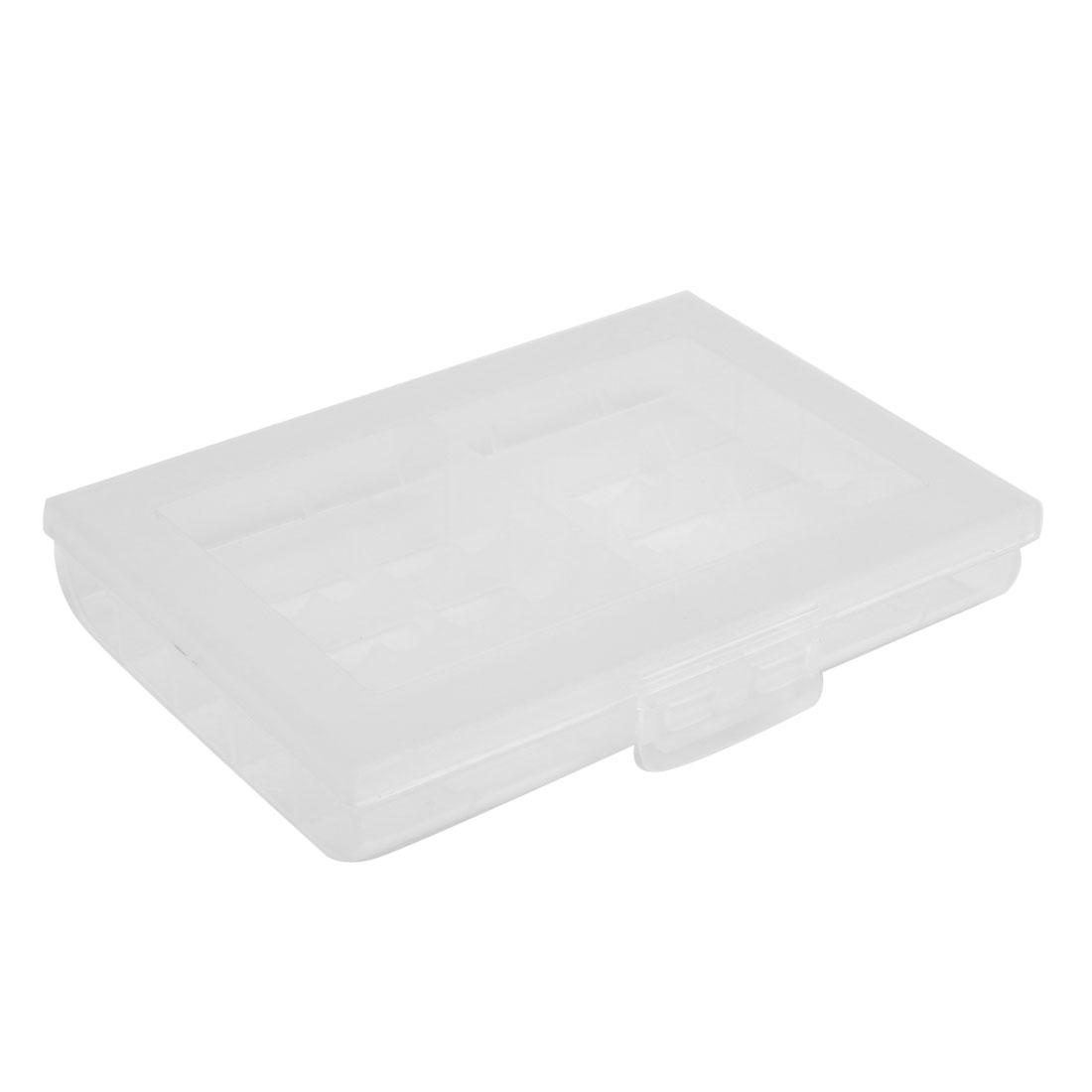 Clear White Plastic 30 Compartment Jewelry Electronic Component Storage Box