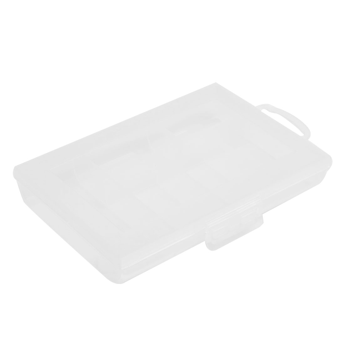 Clear White Plastic 6 Sections Screws Electronic Component Storage Box Case