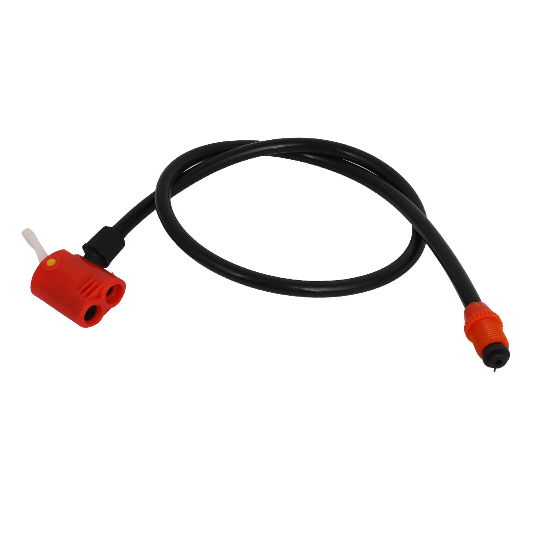 Black Bike Bicycle Tire Schrader Presta Valve Air Gas Inflator Hose