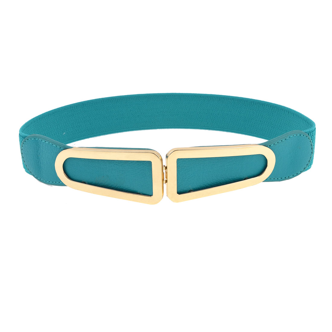 Blue Band Faux Leather Copper Tone Metal Buckle Cinch Belt for Ladies