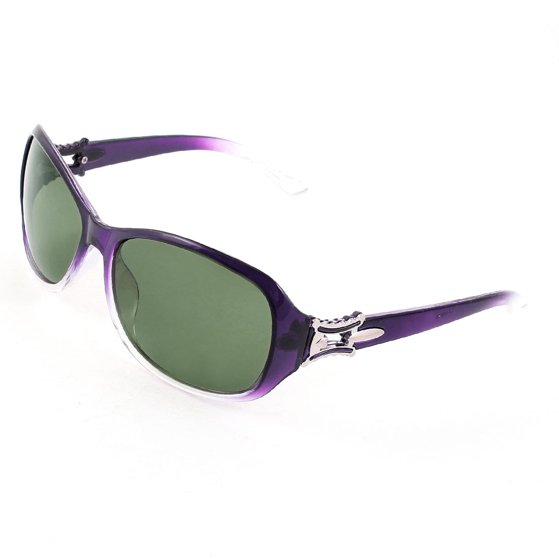Purple Clear Full Frame Single Bridge Sports Polarized Sunglasses for Women