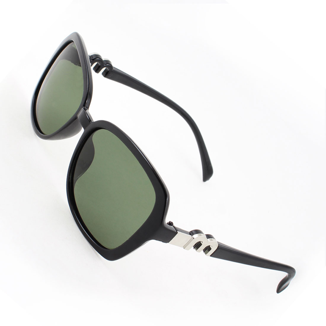 Black Full Rim Green Lens Driving Sports Polarized Sunglasses for Woman