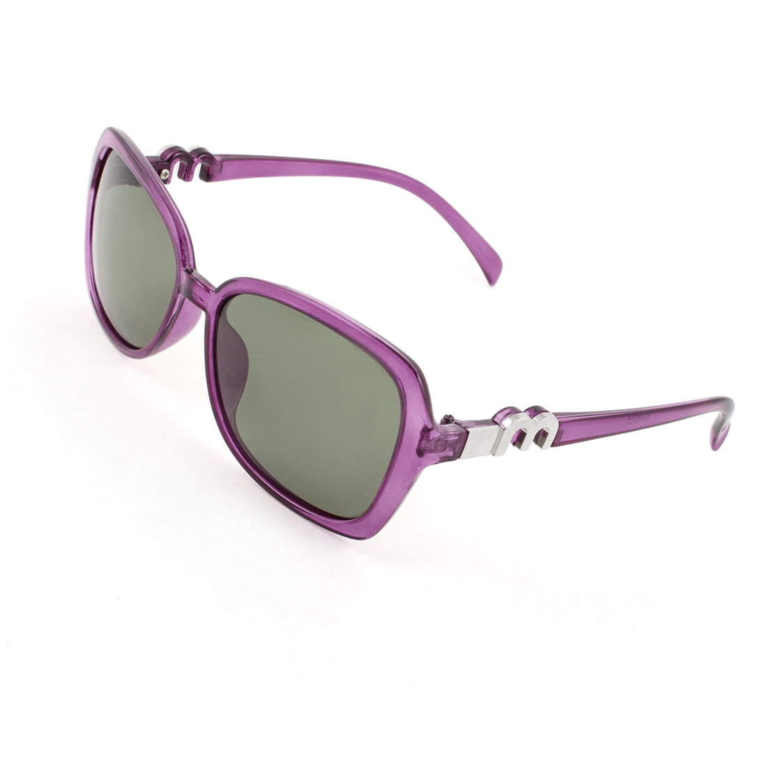 Purple Full Rim Green Lens Driving Sports Polarized Sunglasses for Woman