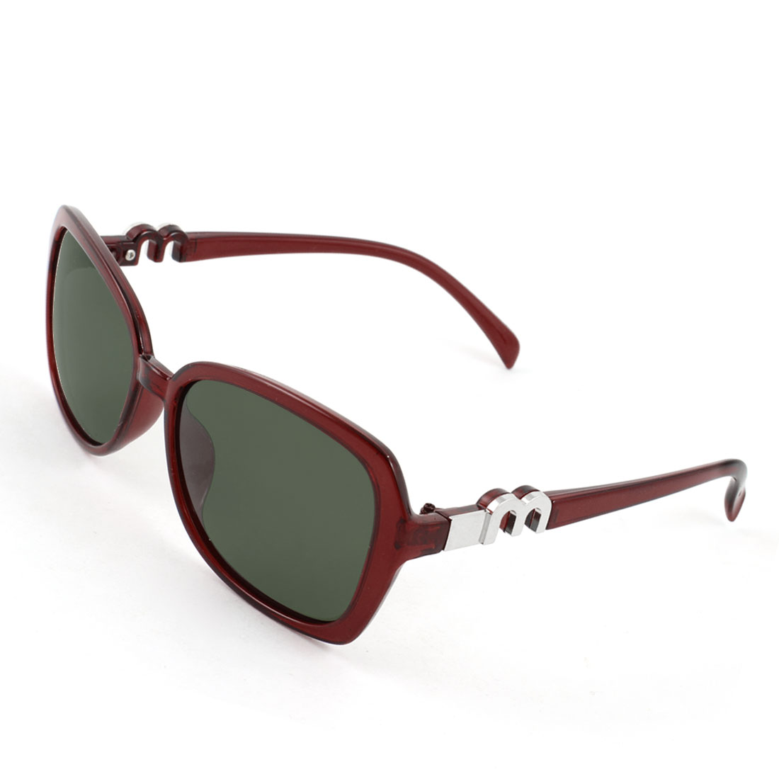 Woman Ladies Burgundy Full Frame Single Bridge Sports Polarized Sunglasses