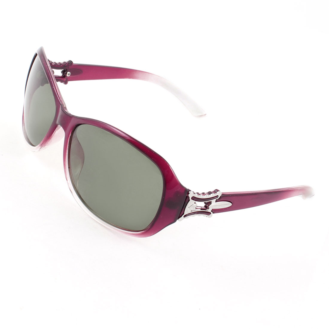 Ladies Teardrop Shape Colored Lens Eyeglasses Polarized Sunglasses Burgundy Clear