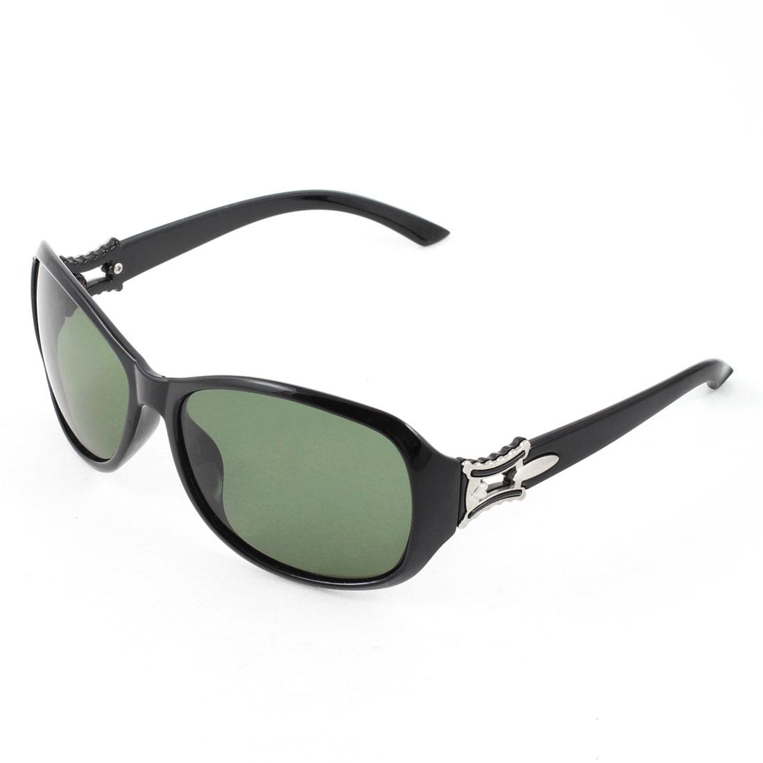 Ladies Woman Black Full Frame Single Bridge Sports Polarized Sunglasses
