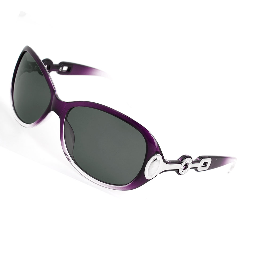 Ladies Purple Full Rim Gray Lens Driving Sports Polarized Sunglasses