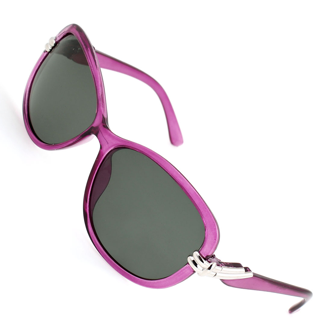 Lady Teardrop Shape Gray Lens Eyeglasses Fishing Polarized Sunglasses Purple