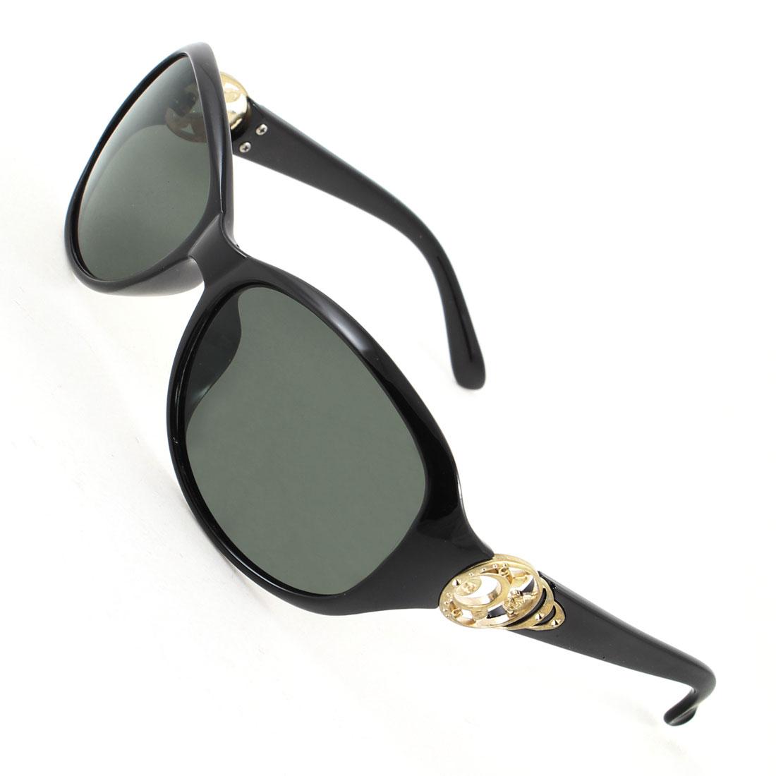 Women Black Full Frame Single Bridge Sports Polarized Sunglasses